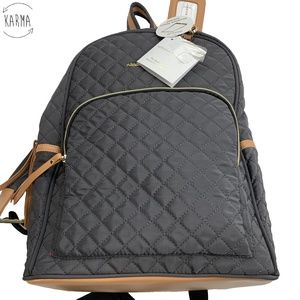 Adrienne Vittadini Charcoal Quilted Backpack Bag